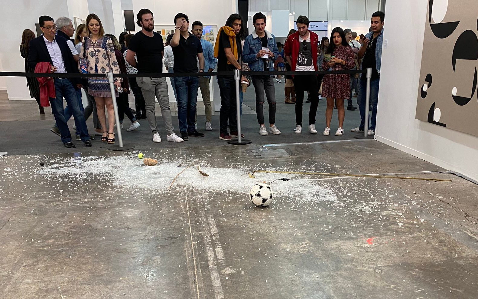 Art critic accidentally destroys $20,000 contemporary installation at Mexico's premiere art fair