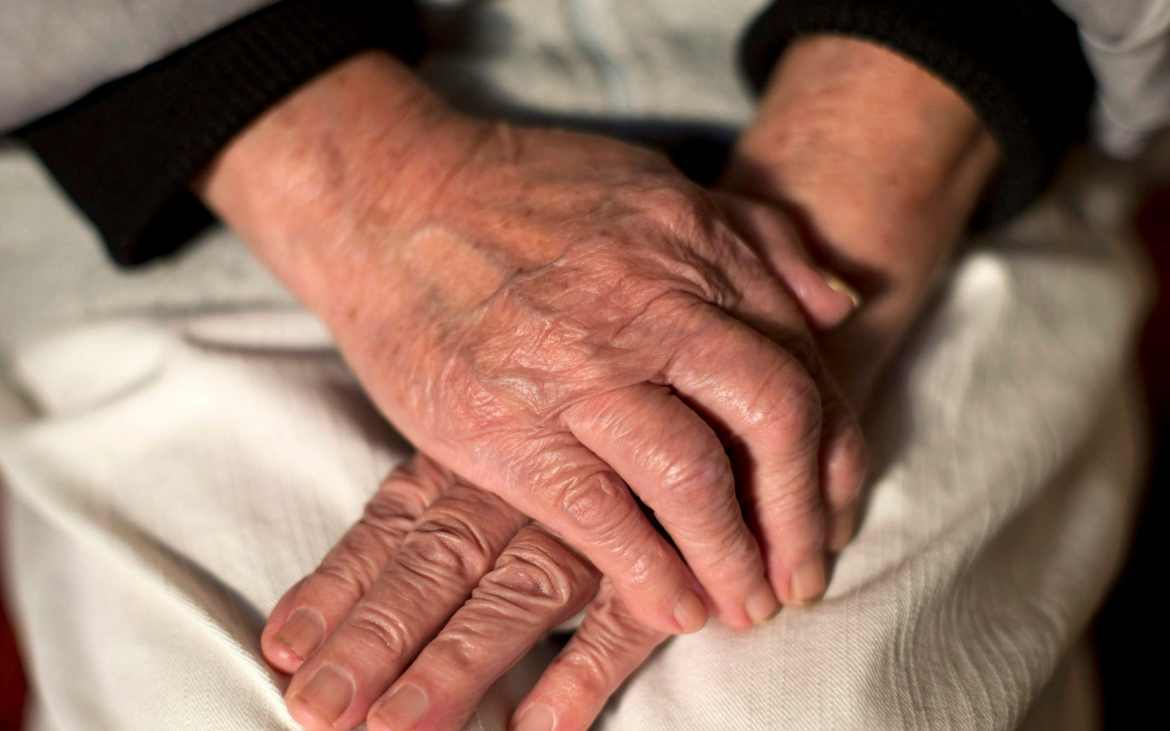 Undated file photo of the hands of an elderly woman. Alzheimer's disease may be preventable by keeping an eye on key factors including weight gain, blood pressure and avoiding stress, experts say. PA Photo. Issue date: Tuesday July 21, 2020. Researchers said many risk factors are modifiable in the fight to prevent dementia, which affects around 850,000 people in the UK, two-thirds of whom have Alzheimer's. See PA story HEALTH Dementia.