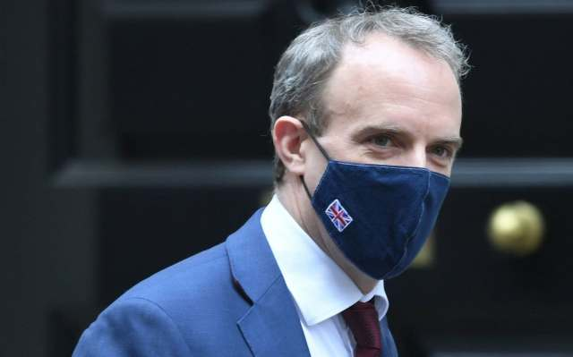 Dominic Raab reprimands EU over its claims of a UK 'outright' ban on  vaccine exports