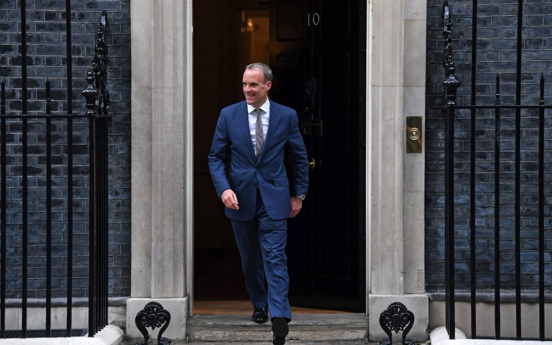 Newly appointed Deputy Prime Minister and Justice Secretary Dominic Raab leaves from 10 Downing Street