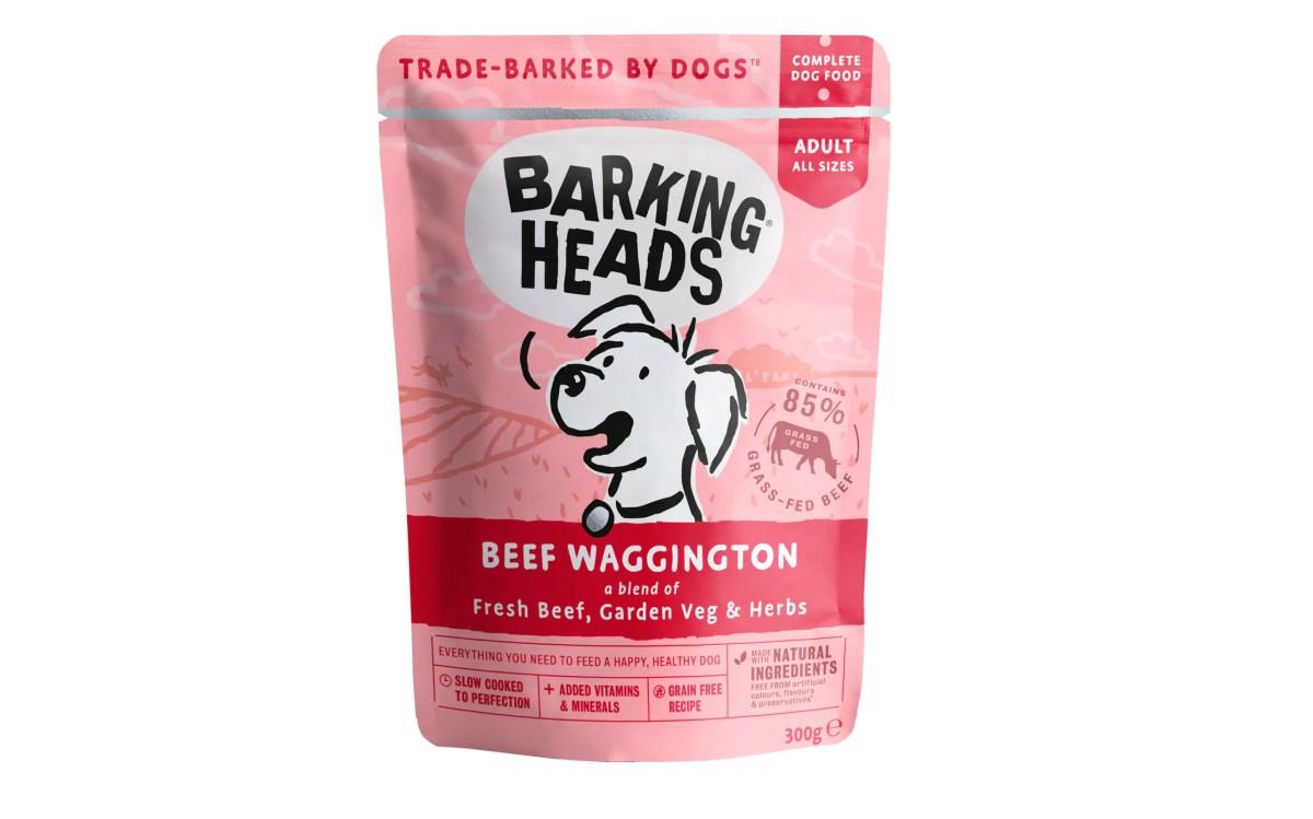 Barking Heads Beef Waggington wet dog food