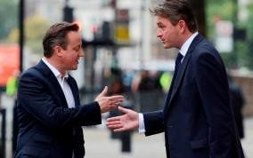 Daniel Kawczynski in conversation with former Prime Minister David Cameron