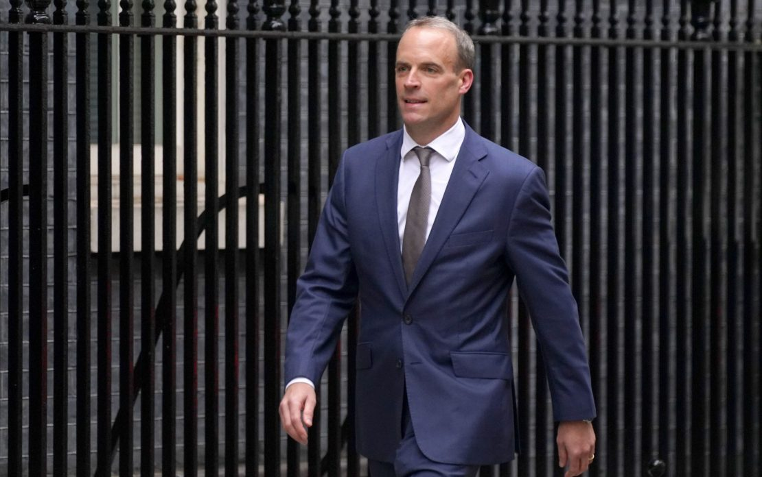 Dominic Raab arriving in Downing Street, London, as Boris Johnson carried out a Cabinet reshuffle