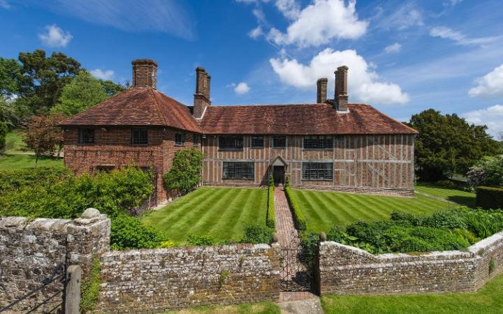 Socknersh Manor in East Sussex, on sale with Strutt and Parker, which has been reduced in value by from £4.75m to £3.795m