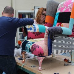Reupholster Sofa South London Leather Manufacturers India This Upcycling Charity Trains Homeless People In Employable Skills Recover Team Members Work On A Wingback Chair At The Studio Welwyn Garden City