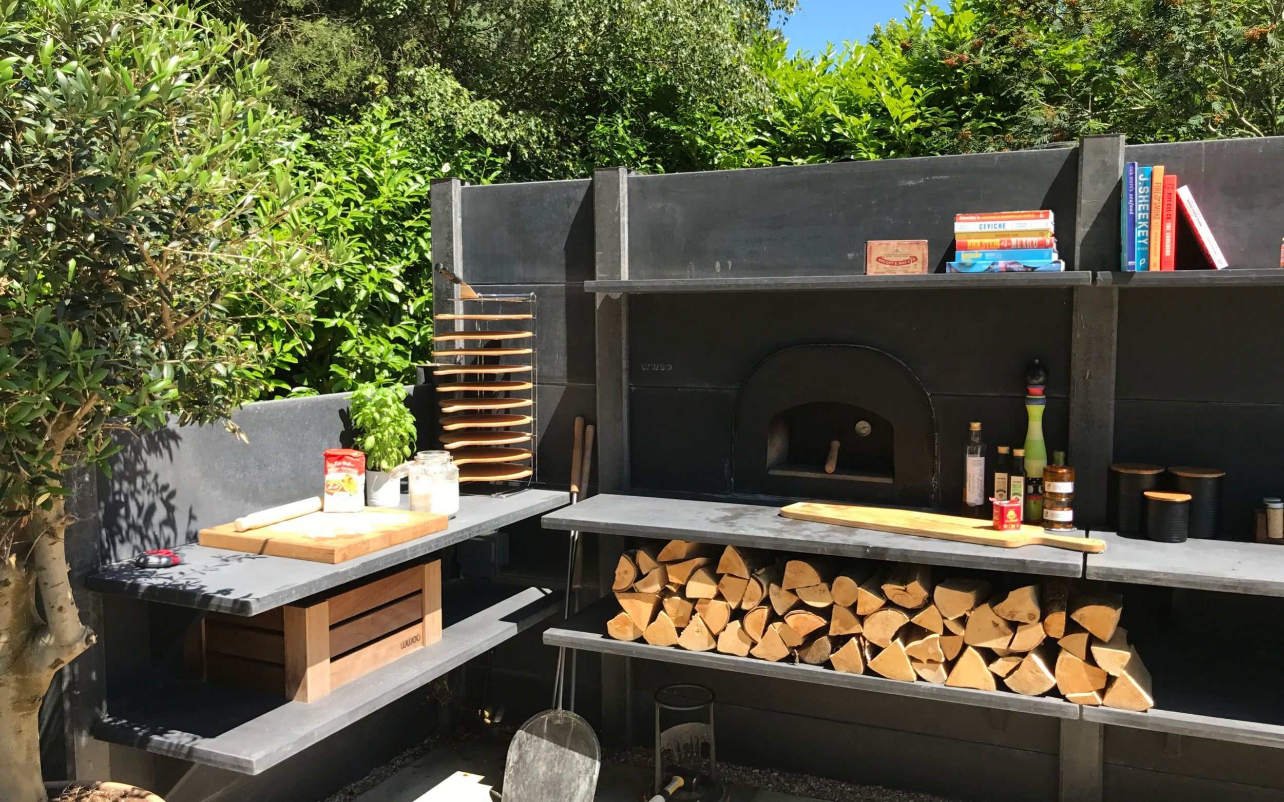outdoor kitchen modular and bath showroom nj how to use your barbecue all year round set up an a concrete by wwoo from 3 000