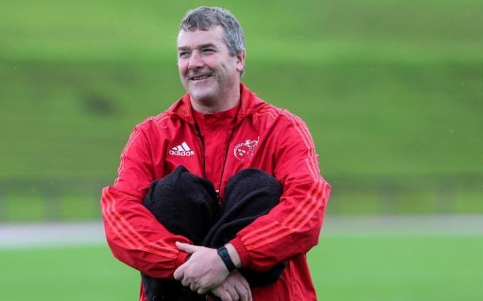 Anthony Foley overseeing a Munster training session -Anthony Foley's sudden death unites rugby in mourning