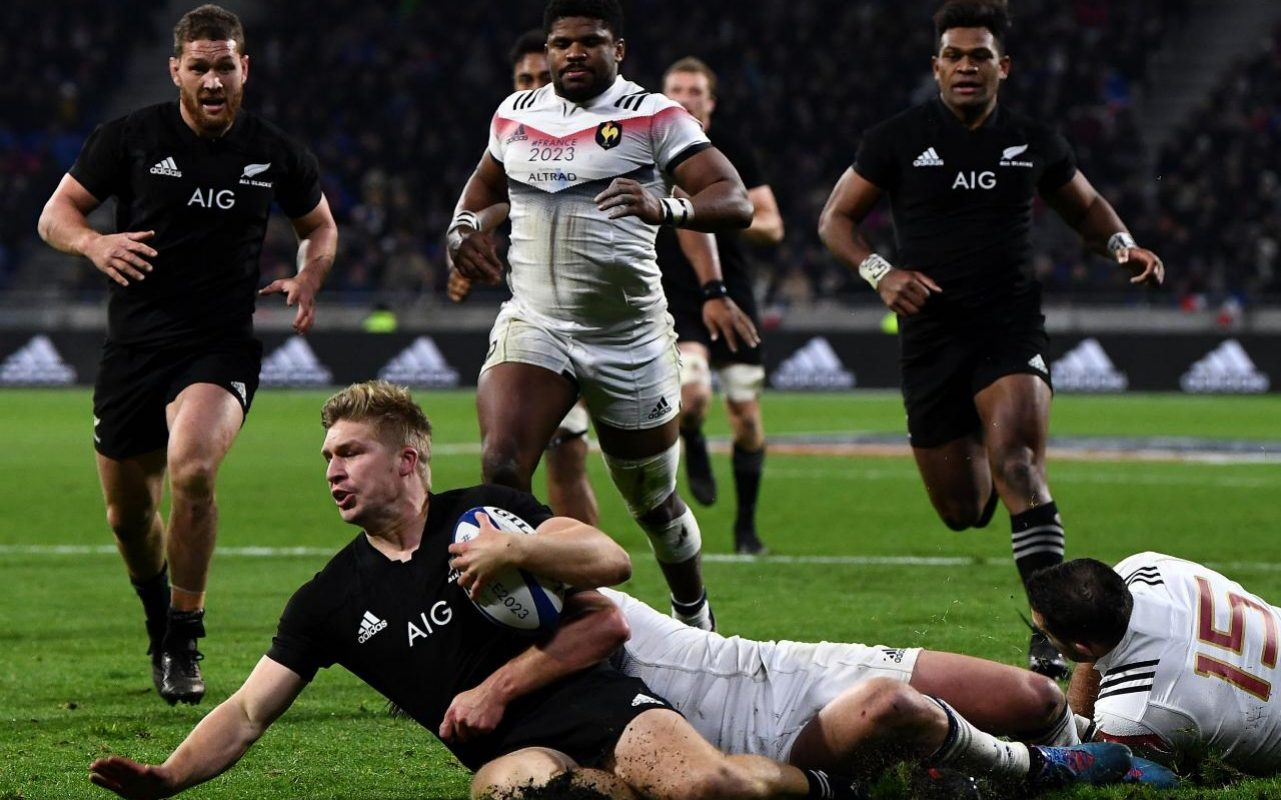 France 23 New Zealand 28 All Blacks second string win in