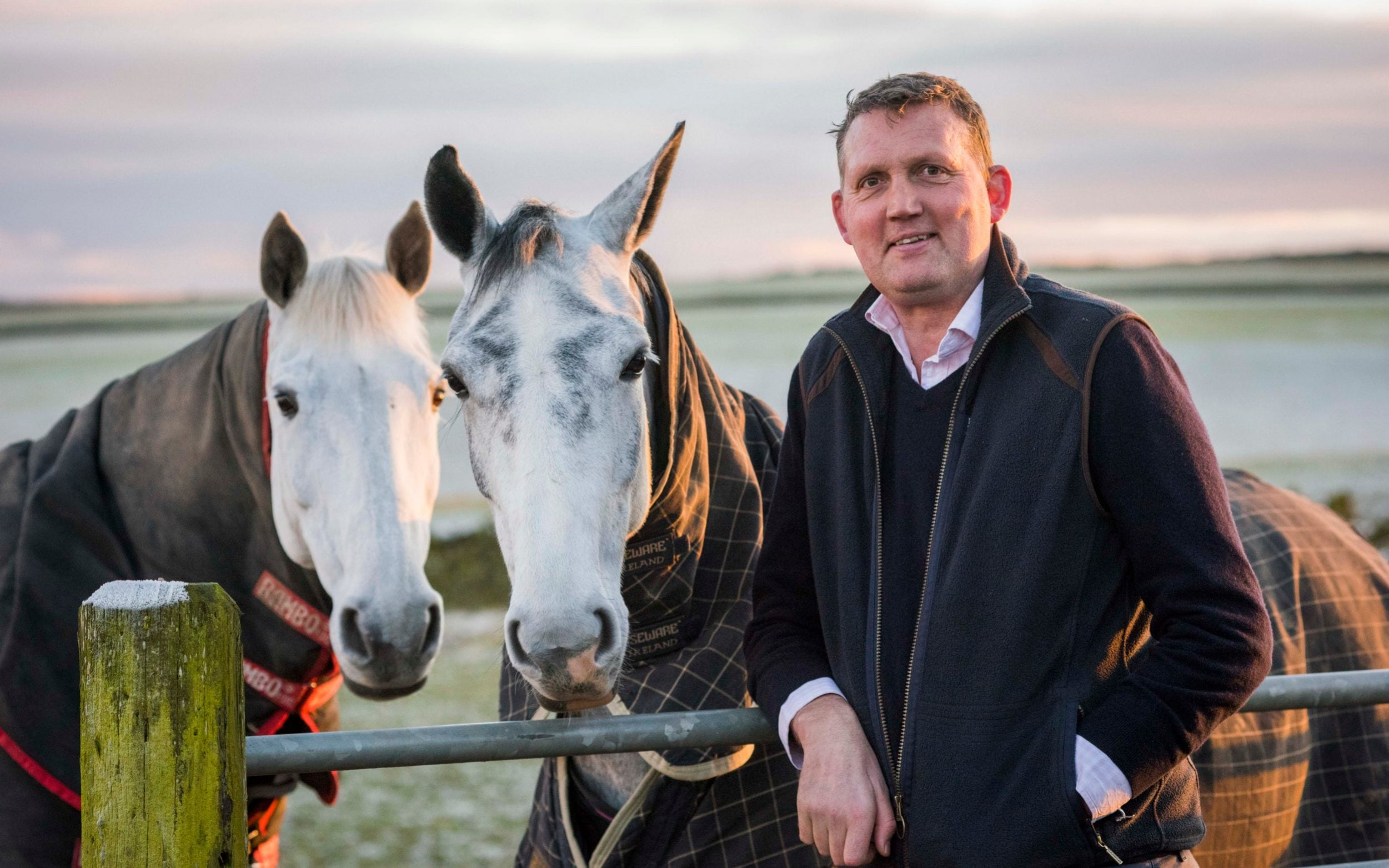 Doddie Weir with horses