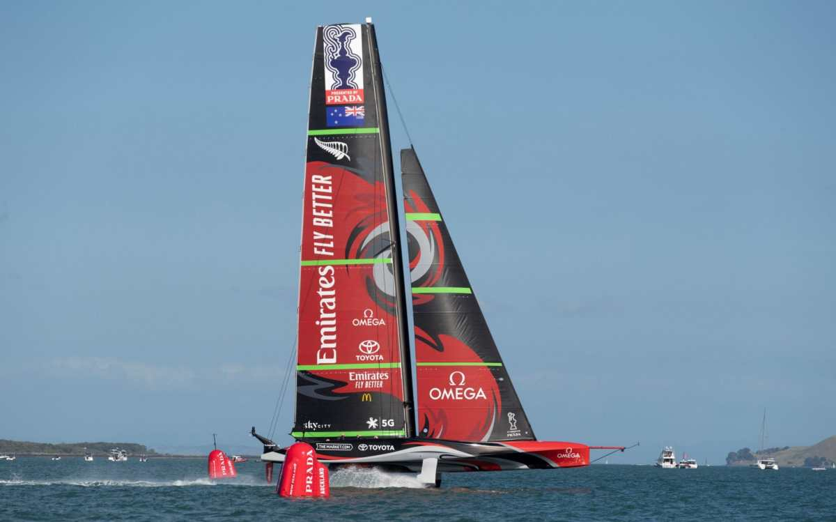 Emirates Team New Zealand's boat has a lot of similarities to the British boat