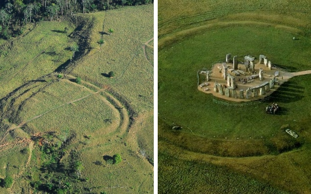 450 'henge' earthworks were found using drones in the Brazilian rainforest