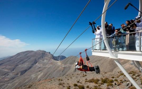 The Jebel Jais Flight zipline