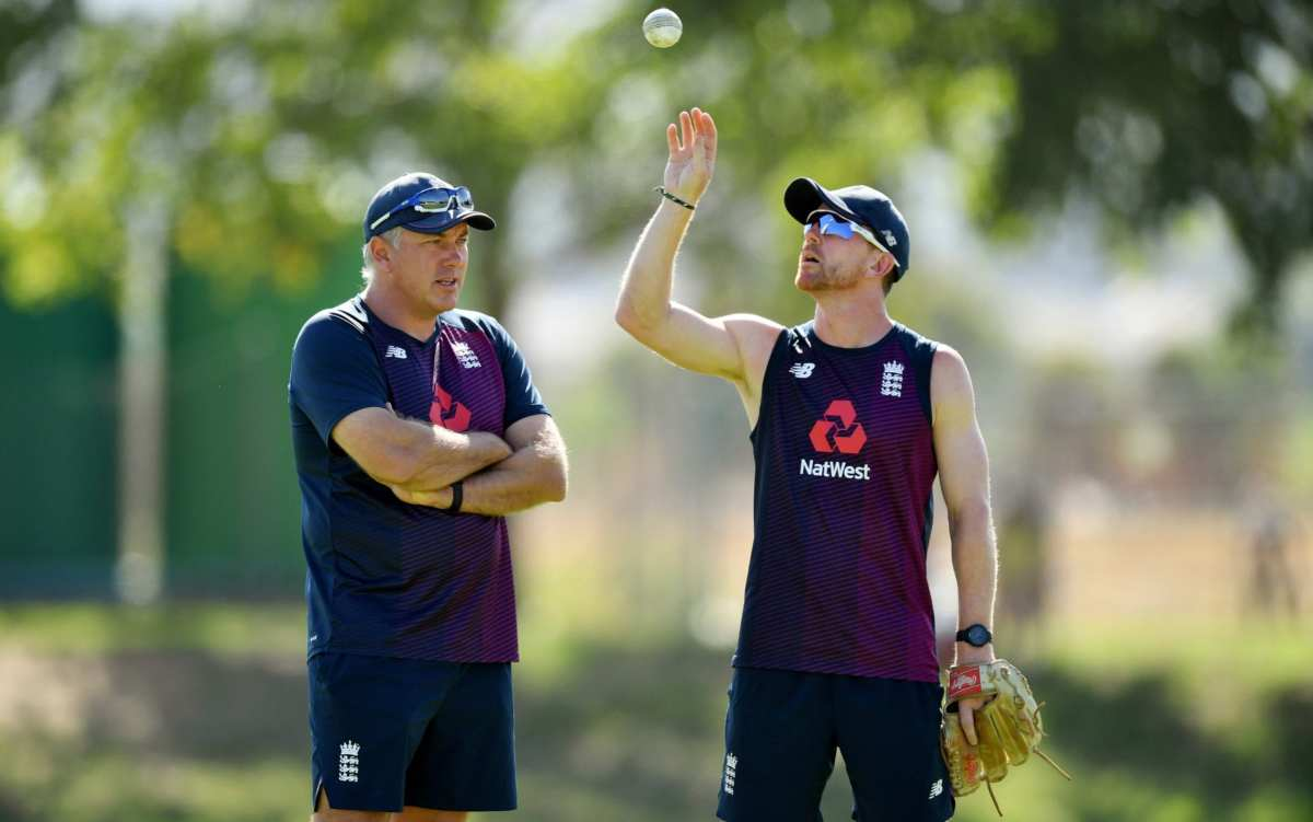 Paul Collingwood (right) with Chris Silverwood