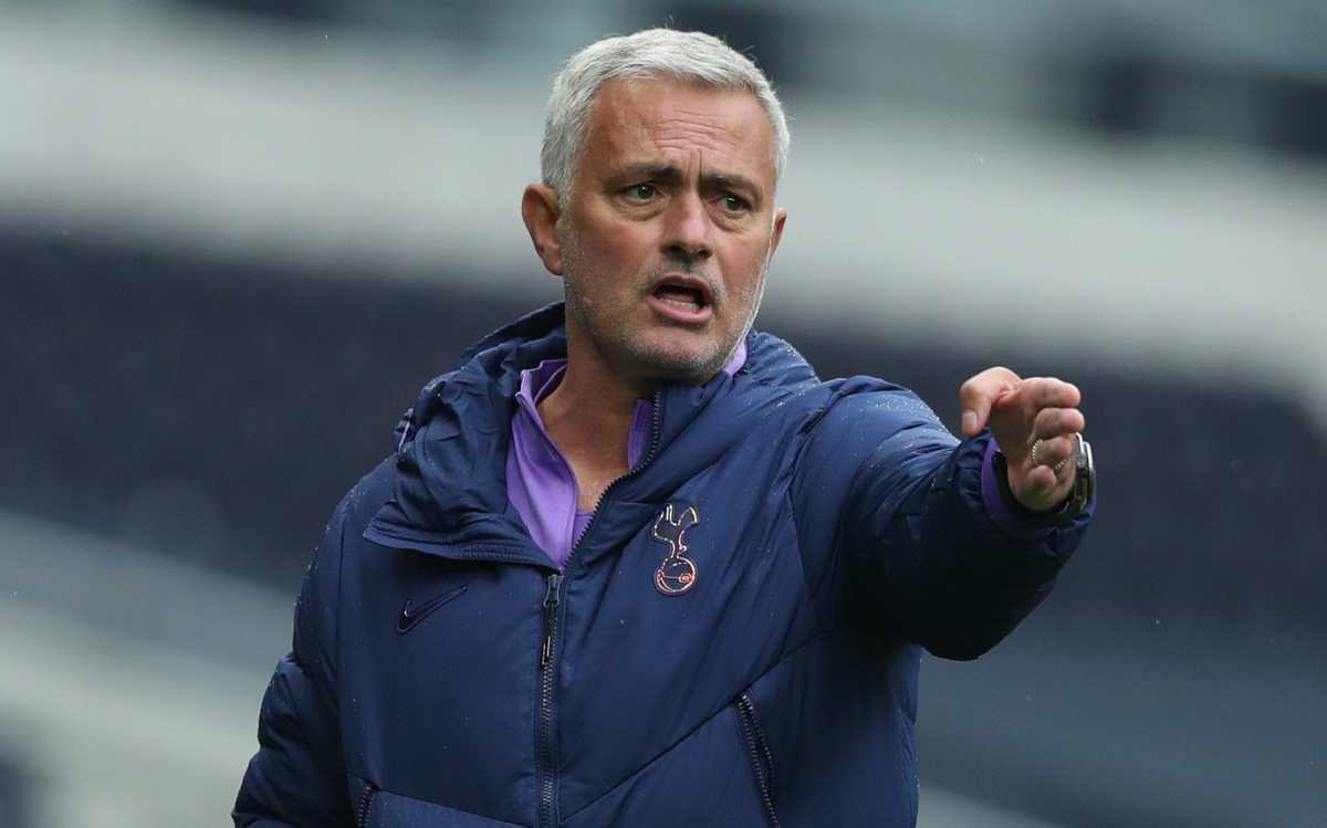 Jose Mourinho, head coach of Tottenham Hotspur during the friendly practice match between Tottenham Hotspur and Norwich City on Friday