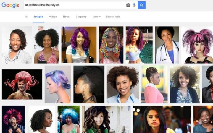 Google Image search results for 'unprofessional hair'