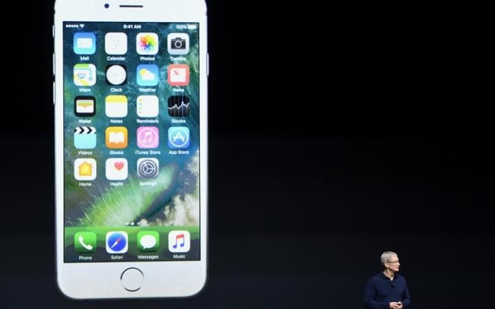 The new iPhone model features a water-resistant design, upgraded camera system and faster processor