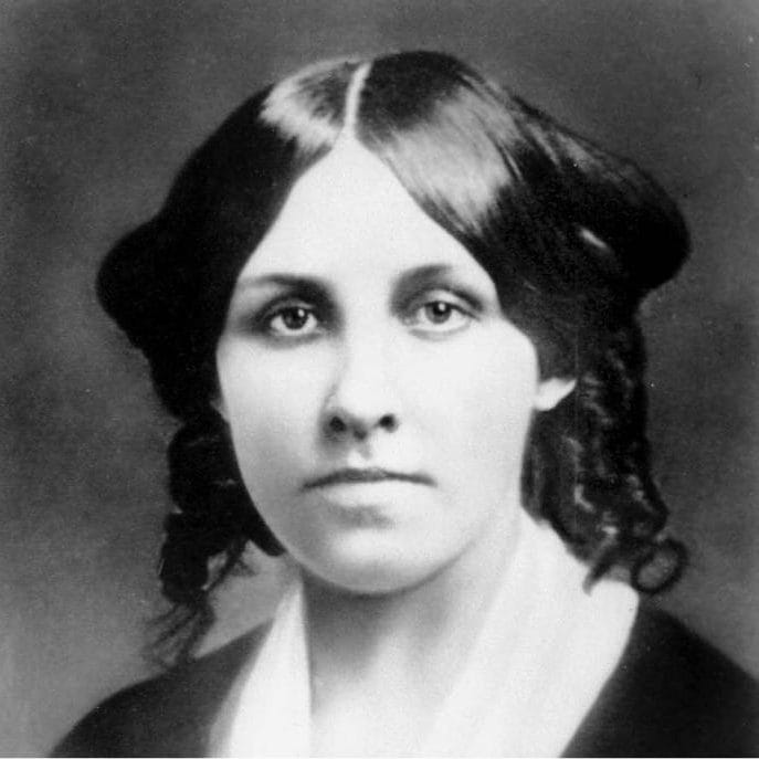 Louise May Alcott aged around 25