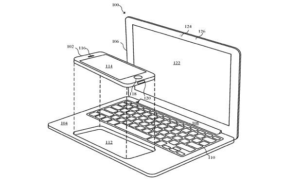 Apple patent reveals unusual designs for iPhone-laptop hybrid