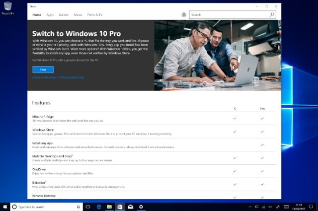 Windows 10 Pro install