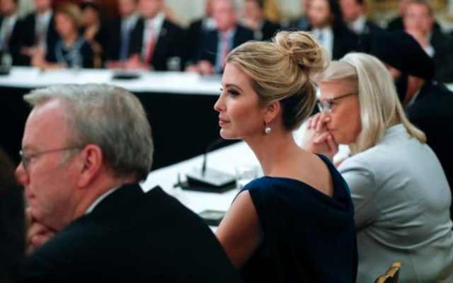 Ivanka Trump listens to remarks during American Technology Council roundtable