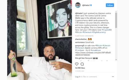 DJ Khaled promotes centra coin