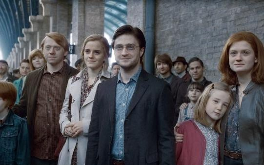 '19 years later': Rupert Grint, Emma Watson, Daniel Craig and Bonnie Wright as Ron, Hermione, Harry and Ginny in adulthood