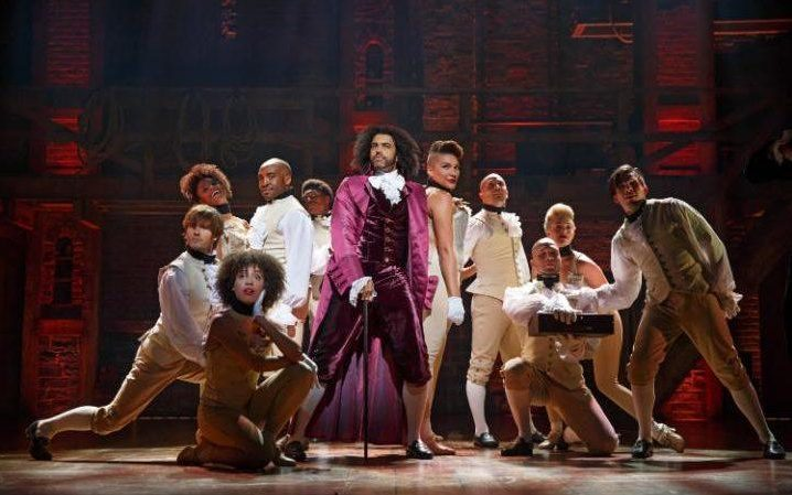 The cast of Hamilton