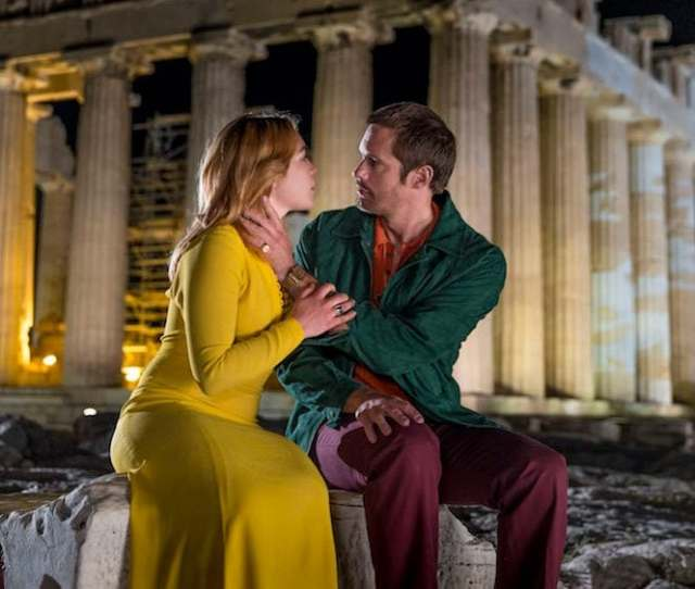 Florence Pugh And Alexander Skarsgard As Charlie And Becker In The Little Drummer Girl