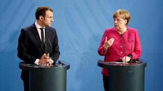 Emmanuel Macron and Angela Merkel pledge to draw up 'common road map' for Europe