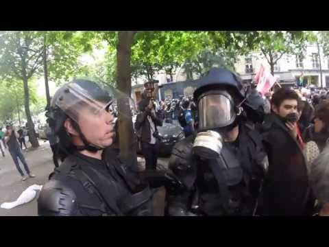 Labor Protesters Met by Riot Police in Paris