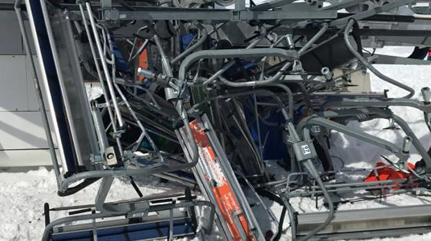 ski chair lift malfunction foldable wooden chairs india tourists flung from out of control after at georgia resort