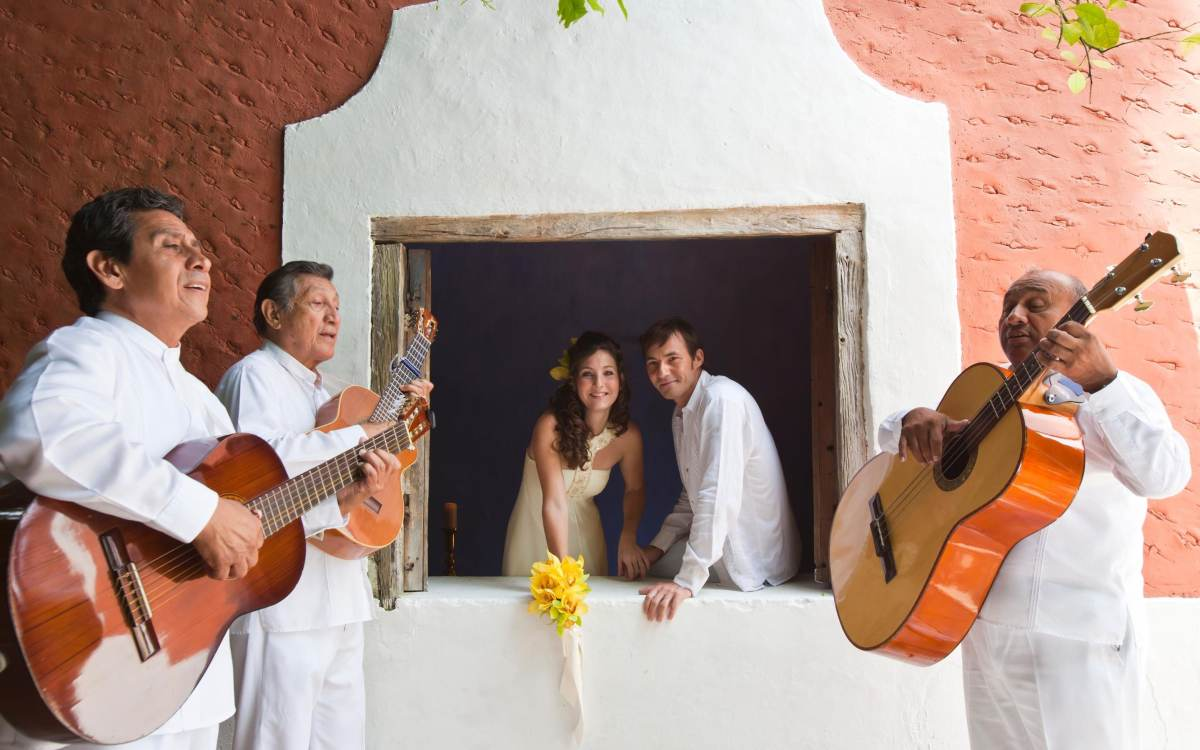 Having a wedding band can transform the atmosphere
