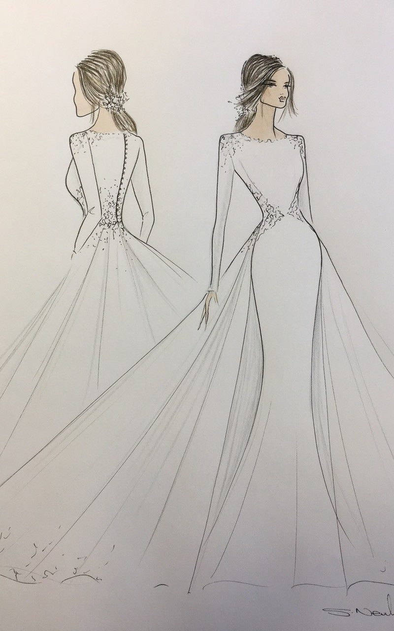 Inbal Dror was reportedly asked by the Palace to submit sketches