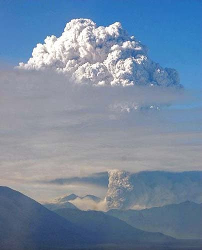 The vast cloud of ash and smoke from the Chaiten volcano, Chile