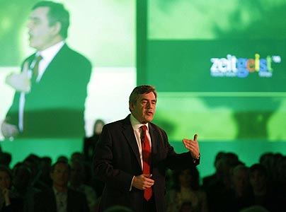 Gordon Brown spoke at a conference organised by Google in Watford