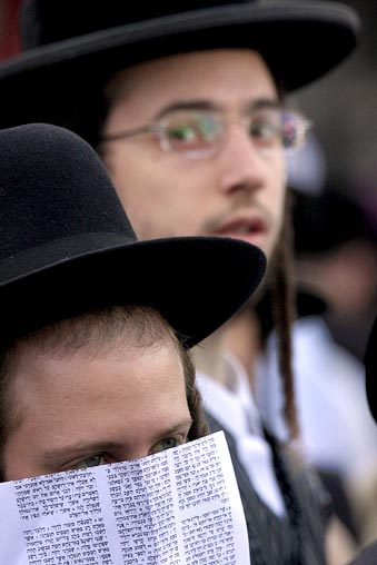 Ultra orthodox jews hold special prayer in Jerusalem against gay pride parade Gay pride parade in Jerusalem