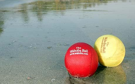 The Waboba ball which bounces on water