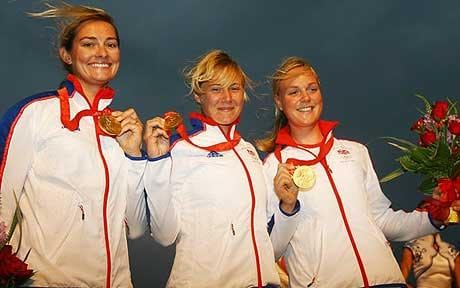 The Yngling Girls take a Olympic gold medal in sailing