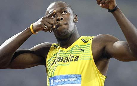 Usain Bolt song Olympics Beijing 2008 world record 100m and 200m