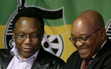 Kgalema Mot-Mot is on the left. The guy on the right is the politician everyone makes fun of the whole time.