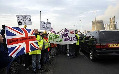 Protests across Britain over foreign workers