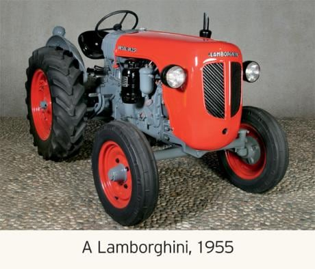 It pays to think big. Lamborghini started out as a tractor-building company in the Italian village of Sant'Agata Bolognese.