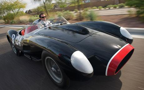 A 1957 Ferrari 250 Testa Rossa has set a world record for the most expensive car ever sold at auction, costing almost £8 million.