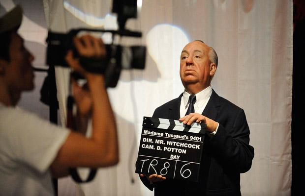 A waxwork of director Alfred Hitchcock is seen at the opening of Madame Tussauds Hollywood in Los Angeles