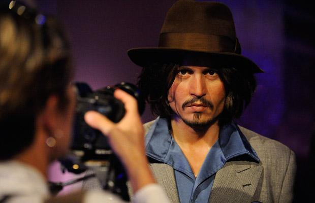 A waxwork of actor Johnny Depp is photographed at the opening of Madame Tussauds Hollywood in Los Angeles