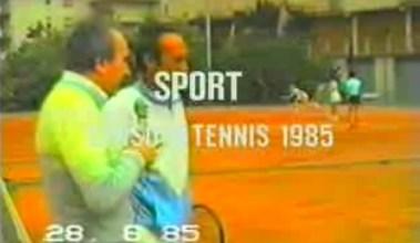 Riprese di un corso di tennis nel 1985