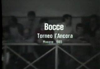 Torneo di bocce L'Ancora nel 1985