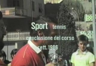Conclusione del corso di tennis del 1986