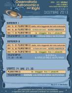 14 dicembre apertura pubblica Osservatorio Astronomico del Righi