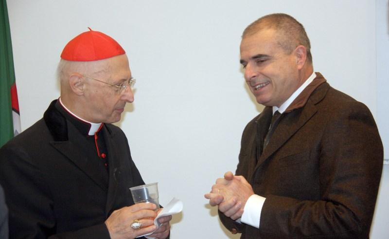 Il Cardinal Bagnasco con il Sindaco Ottonello